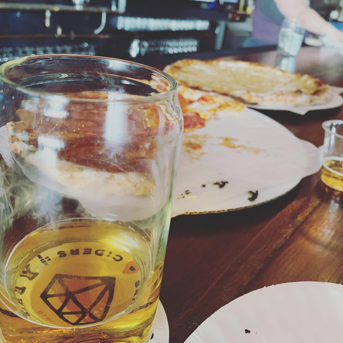Cider Corps (40 Myke Myke) and their hot honey pizza (Salami) puts Hanny's on notice. Wow.