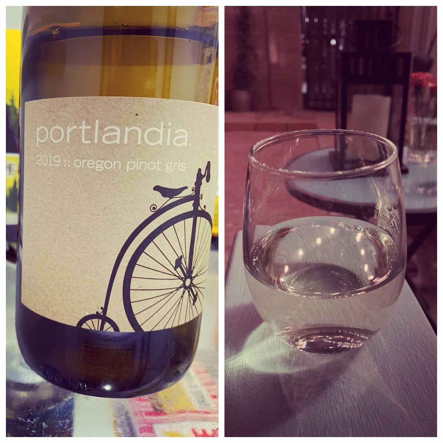 Portlandia Pinot Gris (@portlandiapinot) is the first wine of #winesgiving. Predates / unrelated to the show.